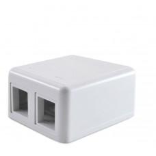 Коробка соединительная, 2-х портовая, белая